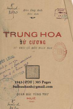 Trung Hoa Sử Cương (NXB Quan Hải Tùng Thư 1943) - Đào Duy Anh, 305 Trang | Sách Việt Nam