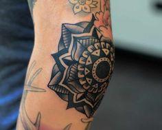 Mandala Elbow Tattoo Ideas