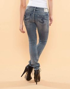 Details about SILVER JEANS Cheap SALE Low Rise Dark Tuesday ...