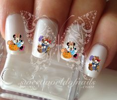 Halloween Mickey Minnie Mouse Nail Art Nail Water Decals