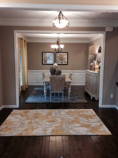 Love the floor and the dining room walls
