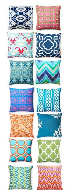 Outdoor pillows - love the colors - ends Saturday
