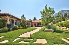 The main home on the estate, this roughly 3,100-square-foot Tuscan-style home, is pictured. Roughly 20% of the property has yet to be developed, Mr. Semas said, part of which can be used as the site of a larger main residence that can accommodate a 10,000- to 20,000-square-foot home.