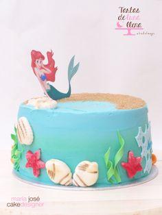 Tarta Sirenita - Little Mermaid cake http://www.tartasdelunallena.blogspot.com