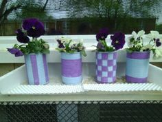 DIY Painted Tin Can Planters