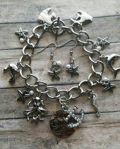 Check out this bracelet set in my Etsy shop https://www.etsy.com/listing/385242248/beach-inspired-bracelet-set-ocean-charm