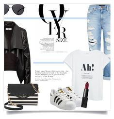 """""""What to Wear: Black Friday Shopping"""" by antemore-765 ❤ liked on Polyvore featuring Genetic Denim, MANGO, HIDE, Kate Spade, adidas Originals, The Row and NARS Cosmetics"""
