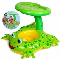 Frog Float with Lotus Roof, Swimming Pool Accessories