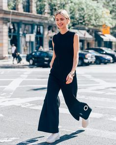 Flaunting the flare with stylist @lookdepernille wearing Fall 2015 Calvin Klein Collection while out in New York City. Photographed by @tommyton. - Shop now for calvinklein > http://ift.tt/1Ja6lvu
