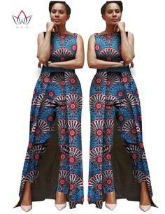 Cheap clothing vintage, Buy Quality clothing military directly from China clothing capes Suppliers: Jumpsuit Women 2016 Summer Bodysuit Africa Clothing Jumpsuit Women 2 combinaison femme Customized Maxi Size Brand&n African Attire, African Wear, African Women, African Fashion Designers, Latest African Fashion Dresses, African Jumpsuit, Moda Afro, Lyon, Africa Dress