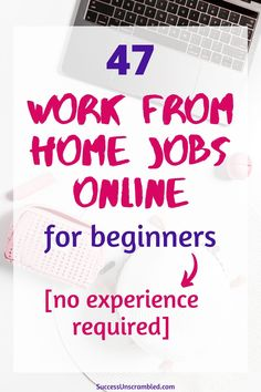 Over 47 work from home jobs for beginners that they can do even when there is a crisis and possibly a recession. Earn a full-time income from home with these real stay at home jobs. Online Work From Home, Work From Home Tips, Make Money From Home, How To Make Money, Online Side Jobs, Earn Money Online, Earning Money, Online Business Opportunities, Making Money On Youtube