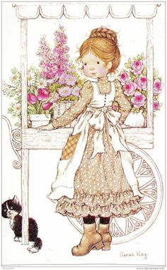 32 new ideas baby ilustration girl sarah kay Sarah Key, Sara Key Imagenes, Vintage Pictures, Cute Pictures, Mary May, Susan Wheeler, Illustration Art, Illustrations, Holly Hobbie