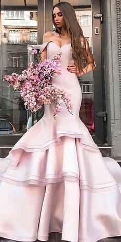 Wedding Dress Simple, Exquisite Satin & Organza Off-the-shoulder Neckline Floor-length Mermaid Evening Dresses Lauren Bridal A Line Prom Dresses, Mermaid Evening Dresses, Cheap Prom Dresses, Girls Dresses, Flower Girl Dresses, Quinceanera Dresses, Party Dresses, Affordable Wedding Dresses, Spring Dresses