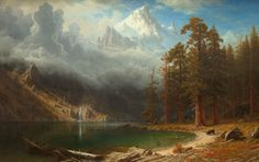 """Albert Bierstadt, """"Mount Corcoran,"""" c. 1876-1877, oil on canvas, National Gallery of Art, Washington, Corcoran Collection (Museum Purchase, Gallery Fund), 2014.79.4"""