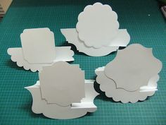 3/22/2012; Norma at 'From My Craft Room' blog with a GREAT tutorial for  Shaped Side Step Cards; this tutorial shows a variety of die cut shapes to make this type of card