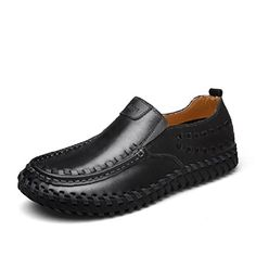 Handmade Summer Men's Leather Shoes Casual Slip On Loafer...