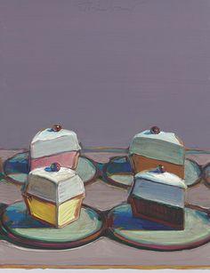 Wayne Thiebaud (American, b. 1920), Meringue Mix, 1999. Oil on panel, 34.6 x 26.7 cm.
