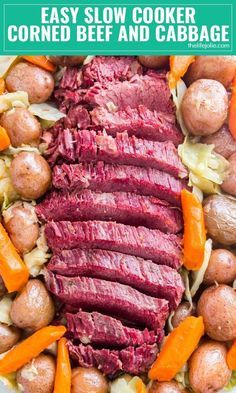 Do me a favor: make this Easy Corned Beef and Cabbage in the instant pot or the slow cooker. It& a super simple recipe with fall apart tender meat and tasty veggies. Trust me, this one& a keeper! Cooking Corned Beef, Slow Cooker Corned Beef, Corned Beef Brisket, Corned Beef Recipes, Slow Cooked Meals, Crock Pot Slow Cooker, Slow Cooker Recipes, Corned Beef Spice Recipe, Crockpot Meals