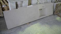 Lavello in marmo - http://test.achillegrassi.com/project/lavello-in-marmo-plana-levigato/ - Lavello in Marmo Planalevigato  Dimensioni:  233cm x 62cm x 16cm