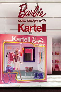 BARBIE has put her Moschino glad rags on as part of Milan's Furniture Week. Hot on the heels of all her 50th birthday celebrations at Dover...
