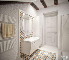 Санузел в мансарде: интерьер, квартира, дом, санузел, ванная, туалет, восточный, марокканский стиль, 0 - 10 м2 #interiordesign #apartment #house #wc #bathroom #toilet #moroccan #010m2 arXip.com
