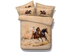 Horse bedding sets quilt duvet cover bedspreads bed in a bag sheets linen doona twin full queen super king size double single 3d Bedding Sets, Comforter Sets, Unique Bedding, Bed Sets, Bed Linen, Linen Bedding, Bedding Decor, Quilt Bedding, Cotton Bedding