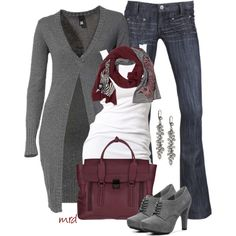 Grey and Cranberry :) yes please