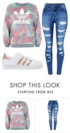 """Untitled #92"" by mairethekiller on Polyvore featuring adidas, WithChic and adidas Originals"