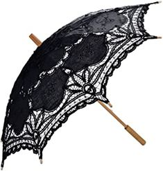 Handmade Embroidery Lace Parasol Umbrellas for Bridal Bridesmaid Wedding Decoration. Can't be used in rain,NOT for rain-proof. Lace Umbrella, Easy To Love, Dark Gothic, Gothic Outfits, Lace Design, Wedding Bridesmaids, Wedding Accessories, Cosplay, Fashion Styles