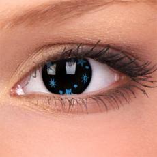Lentile de contact colorate Stars & Jewel Blue Star fara dioptrii.   Un progres in cazul lentilelor de contact colorate il reprezinta noul material de Hidrogel. Fabricate cu o precizie de strung, rezulta un design ultra subtire.
