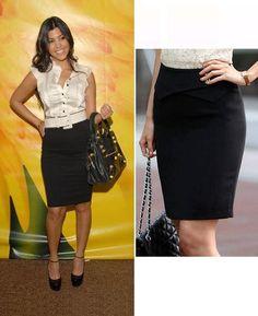 Kourtney Kardashian Over the Knee Black Skirt