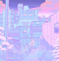 Moonlight City Framed Art Print by Elora Pautrat - Vector Black - Anime Scenery Wallpaper, Aesthetic Pastel Wallpaper, Aesthetic Wallpapers, Naruto Wallpaper, Aesthetic Japan, Aesthetic Art, Aesthetic Anime, Cute Backgrounds, Cute Wallpapers