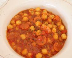 Garbanzos con verduras en Olla GM: Garbanzos con verduras en Olla GM. Receta: http://www.ollasgm.com/garbanzos-con-verduras-en-olla-gm/