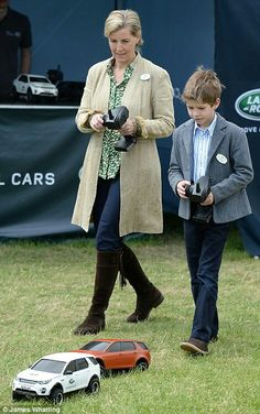 Sophie Wessex and her son James Viscount Severn at the Royal Windsor Horse Show. May 14 2016