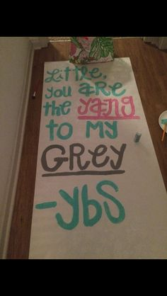Grey's Anatomy big little week poster #phimu #biglittle #greysanatomy #biglittleweekposter