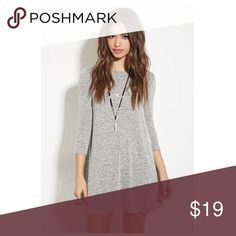 Grey Marled Dress Very comfy, grey sweater dress. 💕💕 this dress is RIDICULOUSLY soft. Honestly I thought I accidentally purchased cashmere when it came in the mail. Cute Dresses, Casual Dresses, Short Dresses, Dresses With Sleeves, 21 Dresses, Sleeve Dresses, Fashion Vestidos, Fashion Dresses, Fashion Top