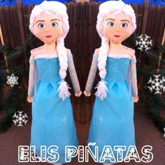 I'm beyond happy on how this piñata looks.Elsa from Frozen movie.