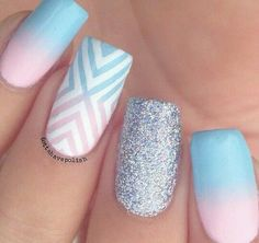 Pastel Nails: 35 Creative Pastel Nail Art Designs After the pastel makeup & hair trend, it's time to celebrate the upcoming summer season with a gorgeous pastel manicure! Check out these 35 Pastel nail designs Pastel Nail Art, Cute Nail Art, Cute Nails, Ombre Nail Art, Diy Ombre, Pastel Makeup, Best Acrylic Nails, Summer Acrylic Nails, Spring Nails