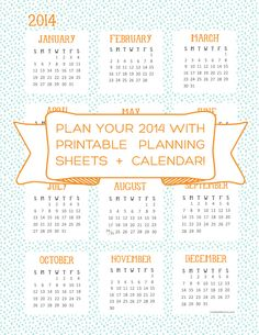 Happy New Year   Printable Planners!