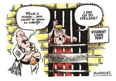 Jimmy Margulies - The Record of Hackensack, NJ - Student loan debt color - English - Student loans, student loan debt, student loan rates, college, college education costs