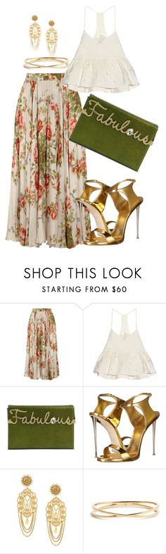 """""""Floral Style"""" by stylistinme ❤ liked on Polyvore featuring Gucci, TIBI, Charlotte Olympia, Giuseppe Zanotti, Dolce&Gabbana and Nadri"""