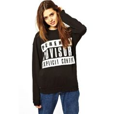 USD12.49Casual Long Sleeves Letters Print Black Regular Pullover