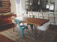 sweet diy dinning room table via- happyhappylove