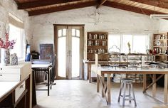 The studio of Ruby Pilven at Smythes Creek, just outside Ballarat.  Photo – Eve Wilson for The Design Files.