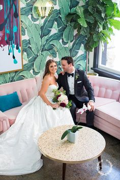 daisy-moffatt-photography-photographer-chattanooga. A modern bride and groom with a swanky mid century vibe--wedding portrait perfection. Dwell Hotel in Chattanooga, TN