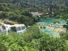 Time for a swim  #krkawaterfalls #croatia #nofilter