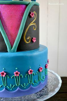Tarta de Anna (Frozen). Frozen cake.