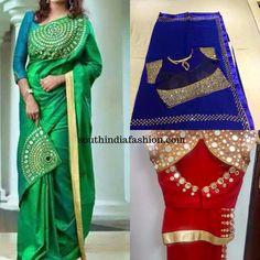 mirror work sarees