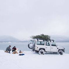 Make this Christmas an adventure with #LandRover and explore the great #outdoors. #Defender #offroad #adventure #ChristmasTree #Christmas #Snow @alexstrohl