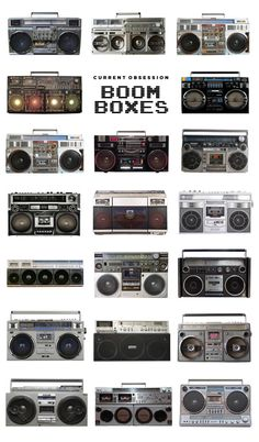 Boomboxes - can anyone look at this and not think of the 1980s?
